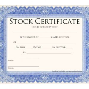 what is a stock share certificate template sample