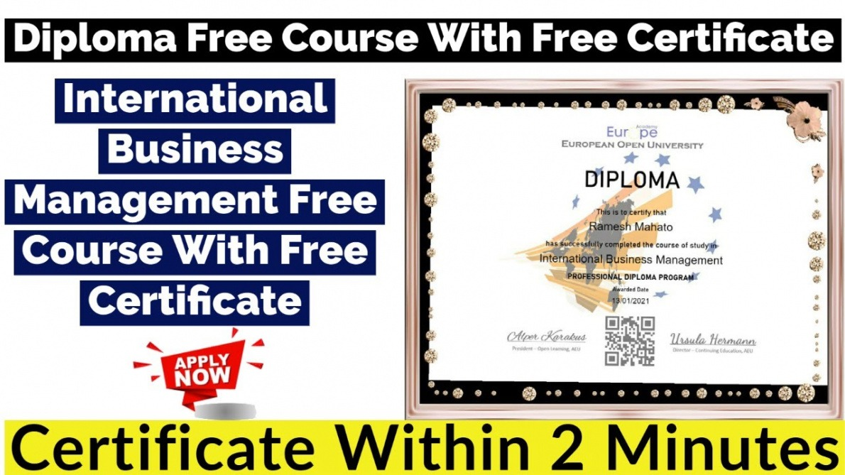 editable certificate course in business management ppt