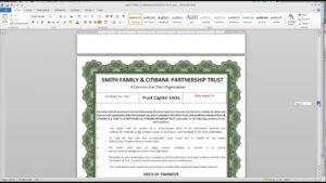 how to get a unit trust certificate template