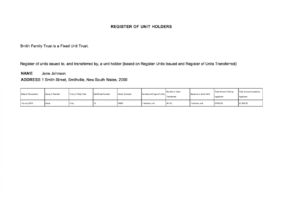 how to get a unit trust certificate template sample
