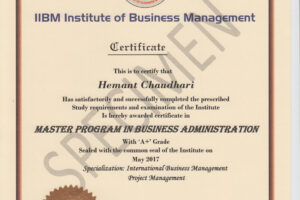 how to make a certificate course in business management doc