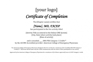 how to make a cme certificate template word