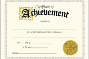 how to make a printable achievement certificate template example