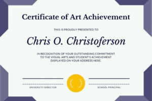 how to make a printable achievement certificate template pdf