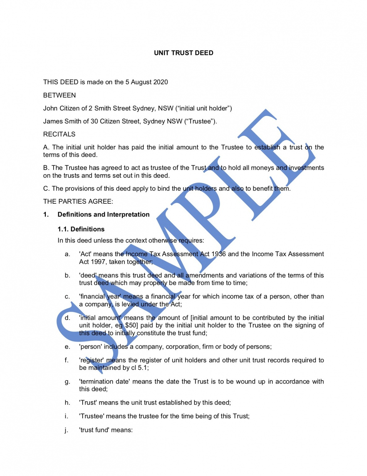 how to make a unit trust certificate template pdf