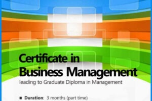 sample certificate course in business management example