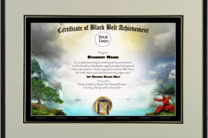 what is a black belt certificate template word