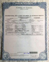 what is a california birth certificate template ppt