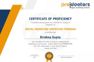 what is a digital marketing certificate course ppt