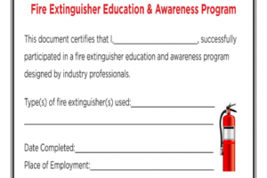 what is a fall protection training certificate template example