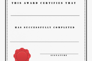 what is a printable achievement certificate template