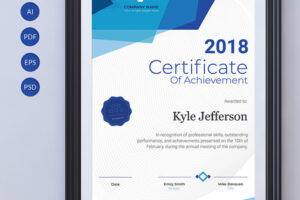 what is a printable achievement certificate template example