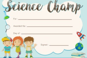 what is a science award certificate template sample