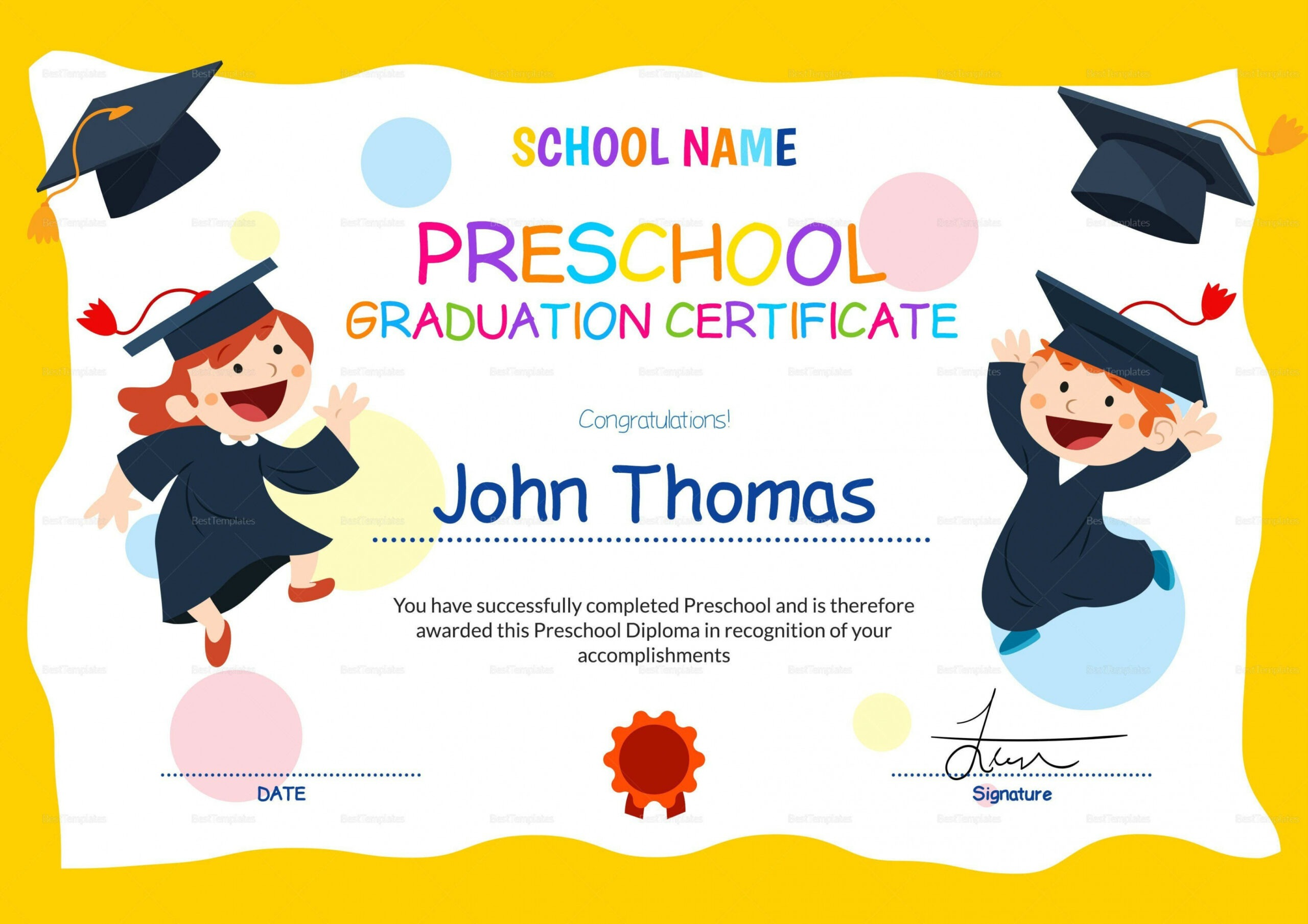 day care certificate template word
