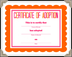how to get a animal adoption certificate template sample