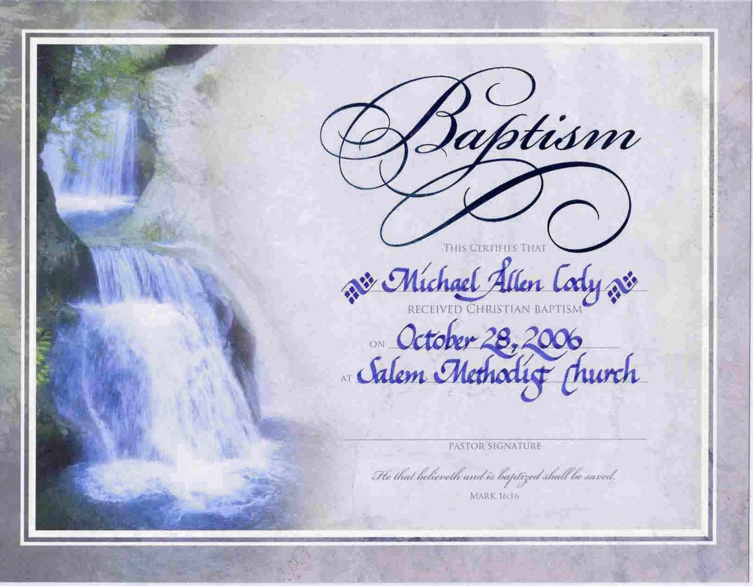 how to get a baptist baptism certificate template word