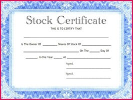 how to get a corporate stock certificate template example
