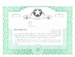 how to get a corporate stock certificate template word