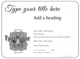 how to make a customizable award certificate template pdf
