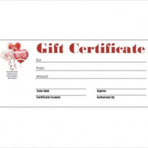 printable auto detailing gift certificate template excel