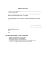 student government certificate template word