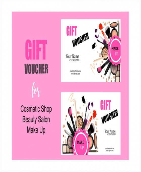 beauty gift certificate template word
