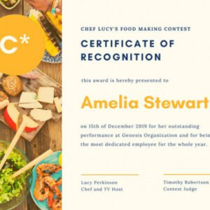 editable cooking class gift certificate template ppt