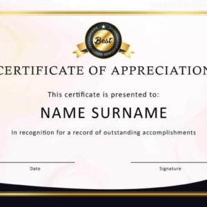employee recognition certificate template word
