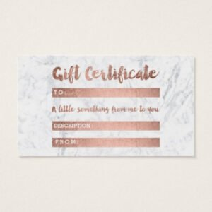 free beauty gift certificate template ppt