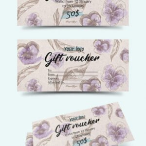 free cupcake gift certificate template example
