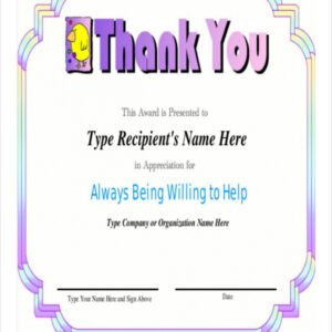 free employee recognition certificate template doc