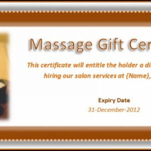 free massage therapy gift certificate template