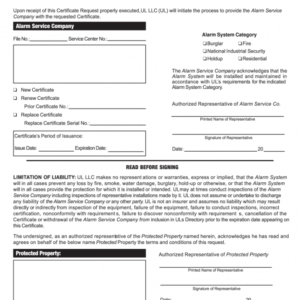 how to get a certificate of insurance request form template word