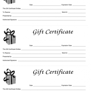 how to get a store gift certificate template ppt