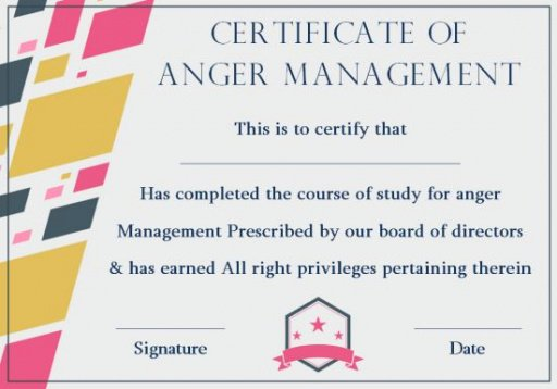 how to make a anger management certificate template excel