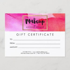 how to make a beauty gift certificate template excel