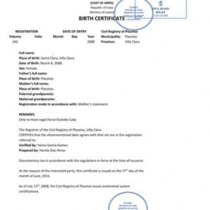 how to make a birth certificate translation template english to spanish pdf