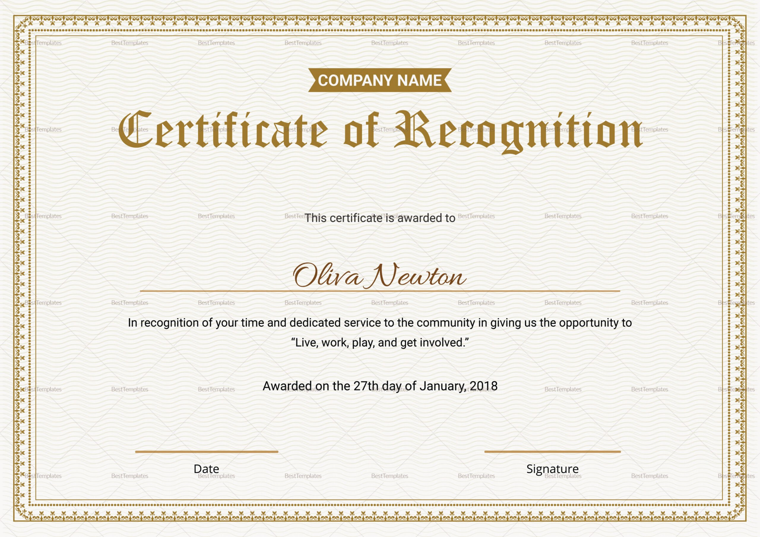 how to make a employee appreciation certificate template ppt