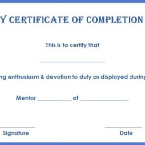 printable anger management certificate template word