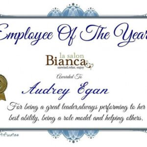 printable employee recognition certificate template example