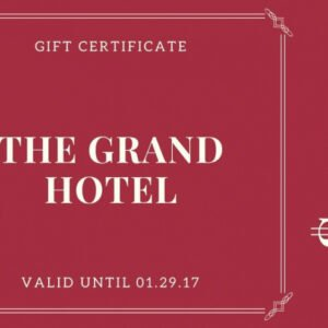 printable hotel gift certificate template