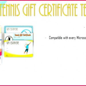 sample tennis gift certificate template excel