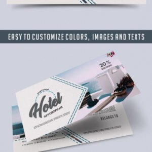 what is a hotel gift certificate template excel