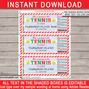 what is a tennis gift certificate template sample