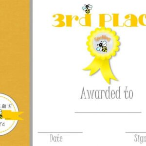 2nd place certificate template pdf