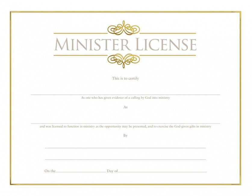 free pastor ordination certificate template doc