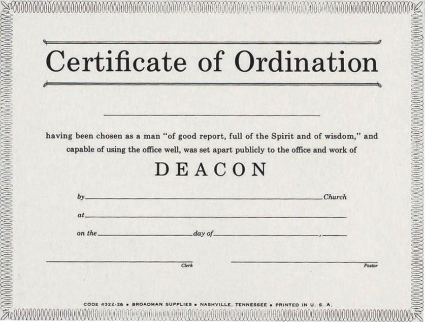 free pastor ordination certificate template excel
