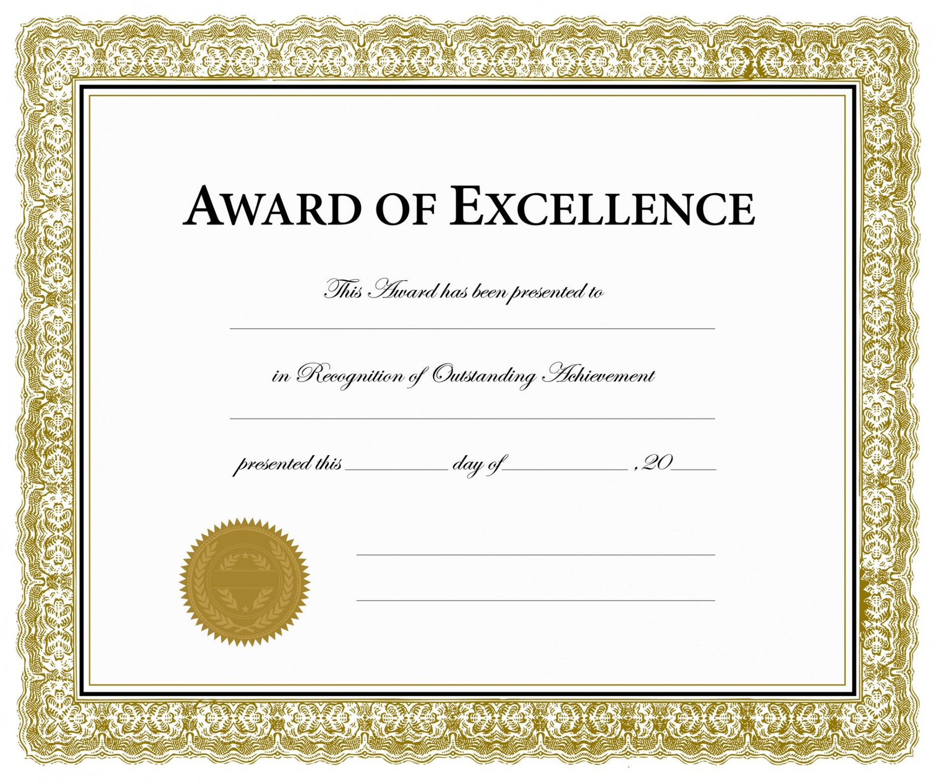 how to get a certificate of excellence template pdf