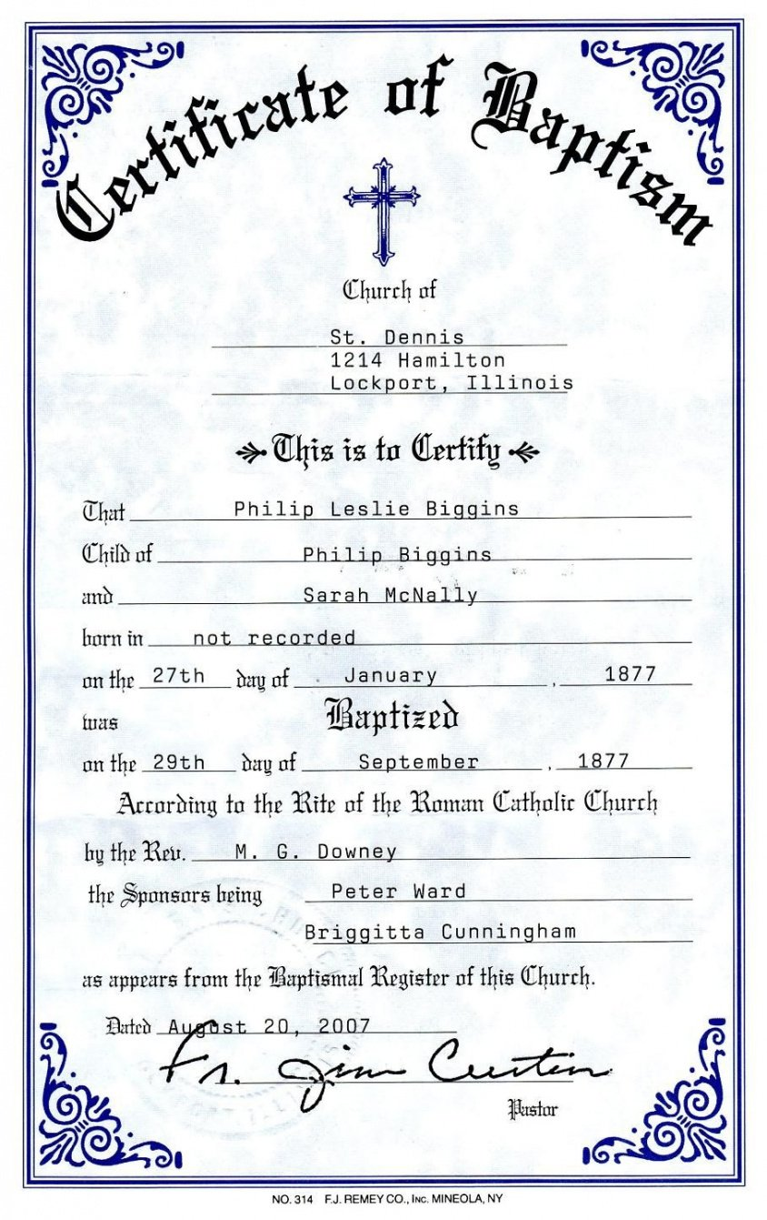 how to get a roman catholic baptism certificate template example