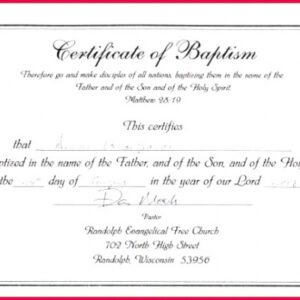 how to get a roman catholic baptism certificate template ppt